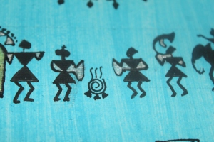 The Bride and the groom in the Warli art!